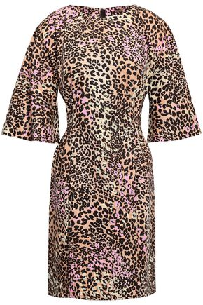 ADAM LIPPES Leopard-print stretch-cotton mini dress