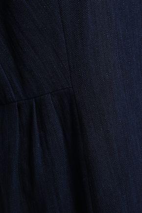 ADAM LIPPES Pleated denim mini dress