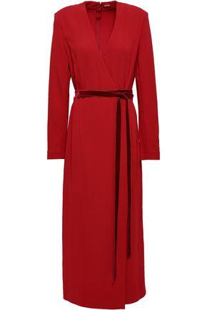 ADAM LIPPES Wrap-effect crepe midi dress