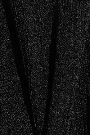 HERVÉ LÉGER Crochet knit-paneled bandage gown