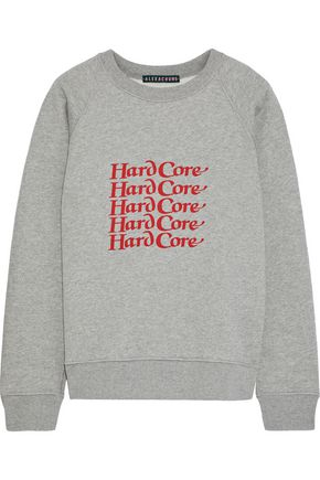 ALEXACHUNG Printed cotton-fleece sweatshirt