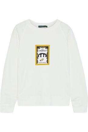 ALEXACHUNG Printed cotton-fleece sweatshirt