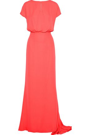MIKAEL AGHAL Gathered crepe gown