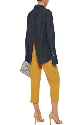 ADAM LIPPES Split-back cotton-chambray shirt