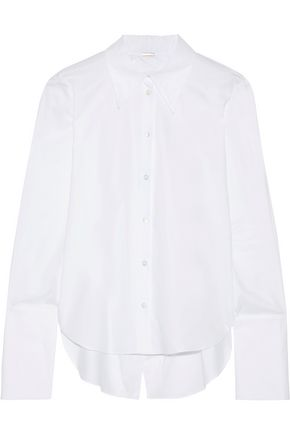 ADAM LIPPES Split-back cotton-poplin shirt