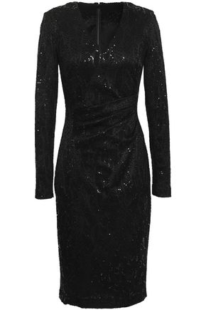 TALBOT RUNHOF Metallic jacquard dress