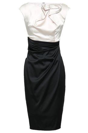 TALBOT RUNHOF Two-tone satin dress