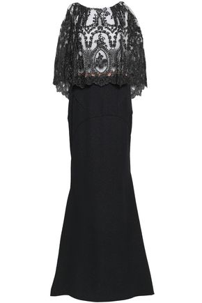 TALBOT RUNHOF Mozambique embroidered tulle and jacquard gown