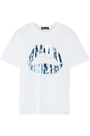 MARKUS LUPFER Alex metallic printed cotton-jersey T-shirt