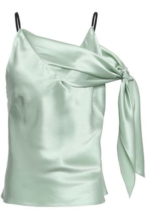 CHRISTOPHER ESBER Knotted silk-satin camisole