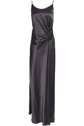 CHRISTOPHER ESBER Cutout ruched silk-satin maxi dress