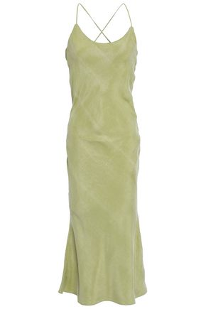 CHRISTOPHER ESBER Fluted lace-up faille midi dress