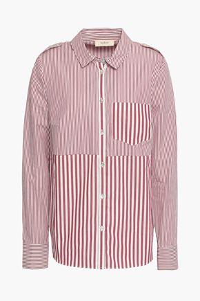 BA&SH Striped cotton-poplin shirt