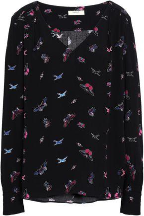 BA&SH Printed crepe blouse