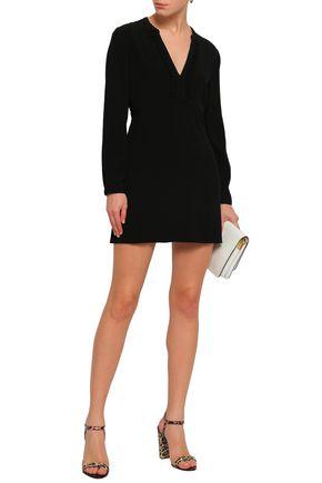 BA&SH Ruffled crepe mini dress