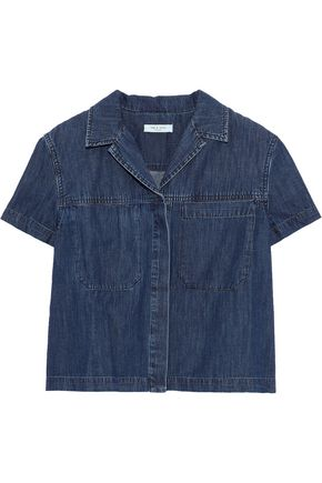 RAG & BONE Reggie cropped denim shirt