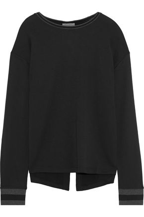 RAG & BONE Reily split-back stretch modal and cotton-blend top