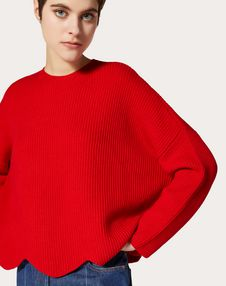 WOOL JUMPER WITH SCALLOP DETAIL