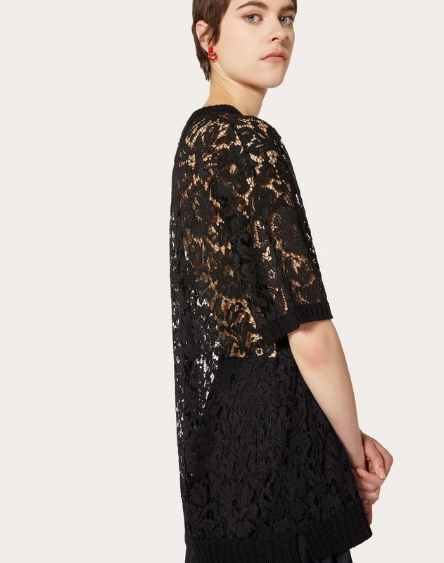 WOOL AND HEAVY LACE JUMPER