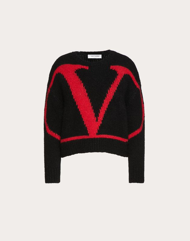VLOGO INLAY ALPACA JUMPER