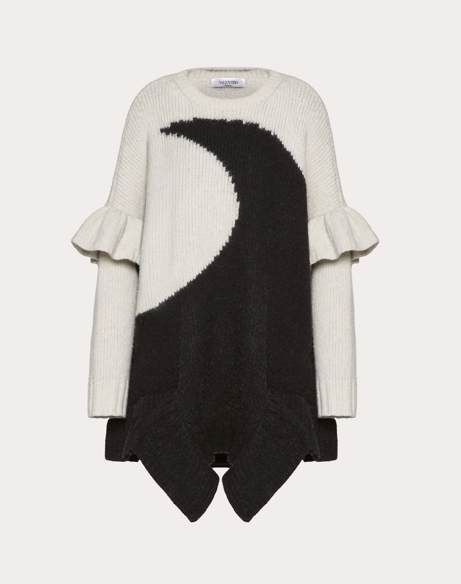 Cotton and Wool Inlay Jumper