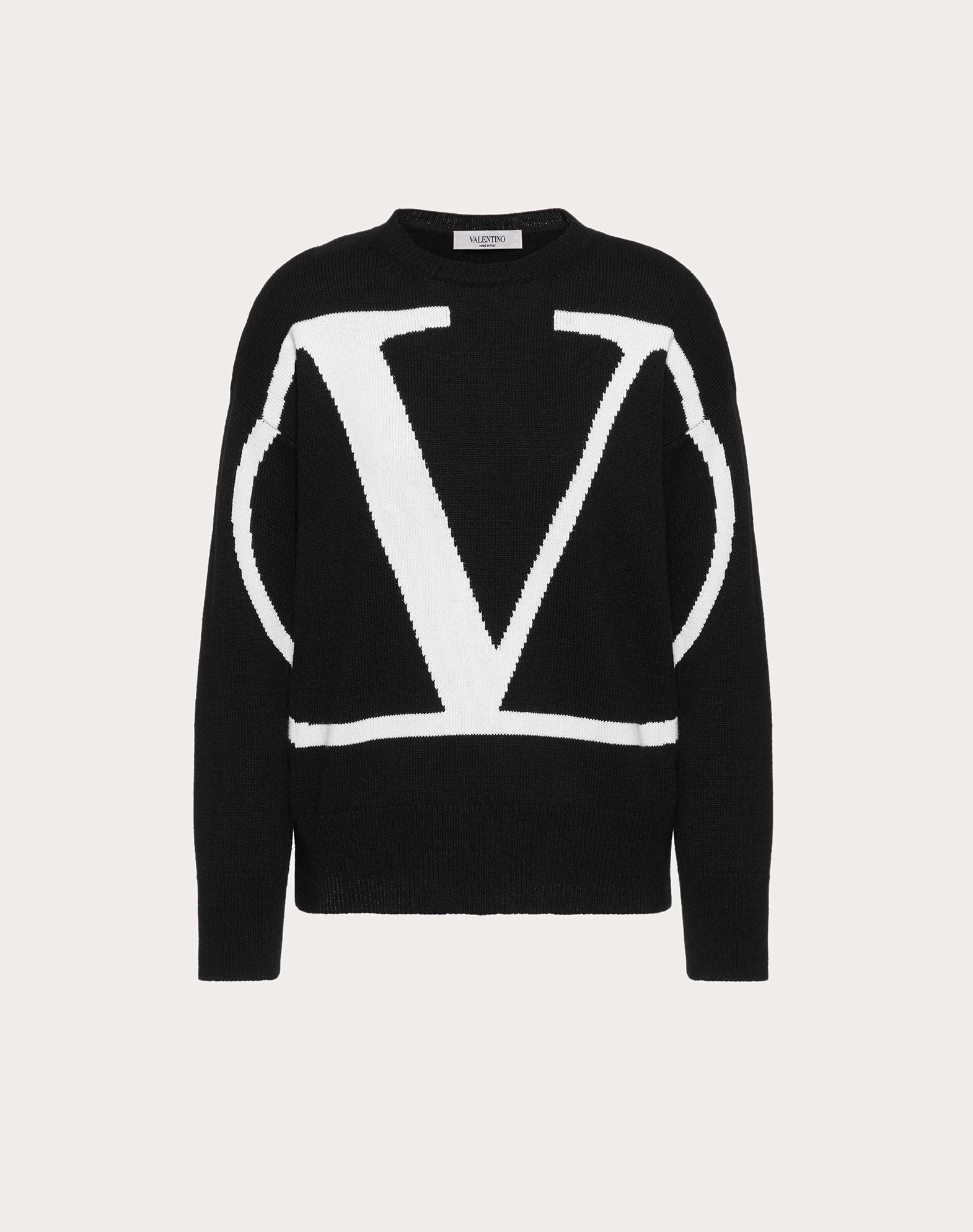 VLOGO INLAY CASHMERE SWEATER
