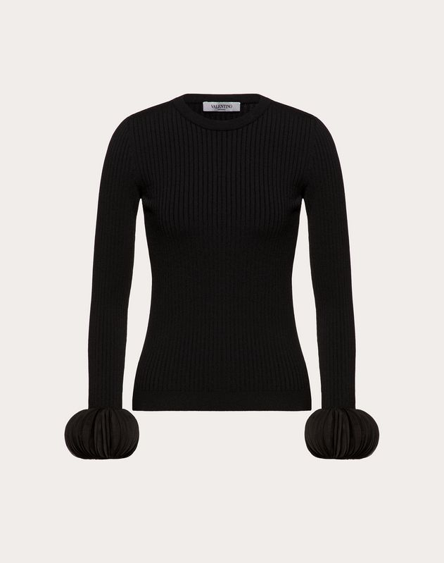 Embroidered Stretch Viscose Jumper