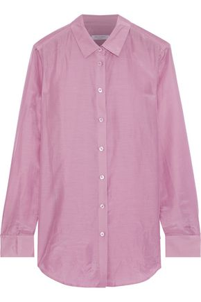 EQUIPMENT Essential cotton and silk-blend organza shirt