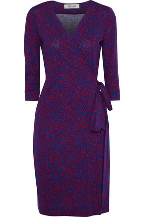 875484187aa DIANE VON FURSTENBERG New Julian printed cotton and silk-blend wrap dress