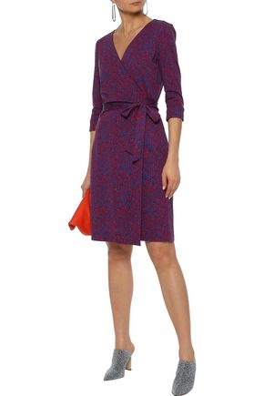 f0bb9d4cdb4 DIANE VON FURSTENBERG New Julian printed cotton and silk-blend wrap dress