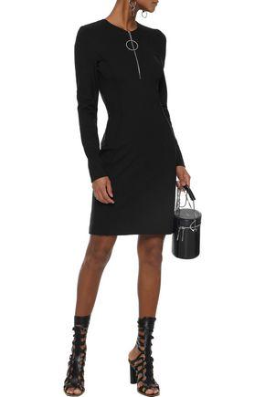 MUGLER Zip-detailed cutout cady mini dress