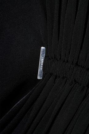 MUGLER Ruched stretch-jersey mini dress