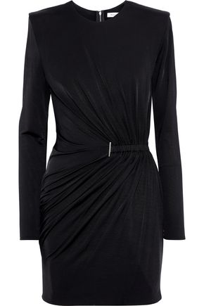 MUGLER Ruched stretch-jersey mini dress