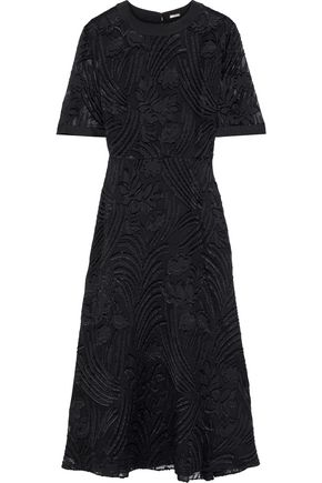 ADAM LIPPES Fil coupé chiffon midi dress