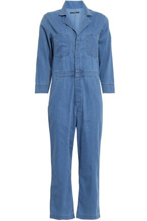 J BRAND Traveler cropped denim jumpsuit