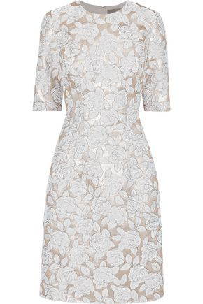 LELA ROSE Holly brocade dress