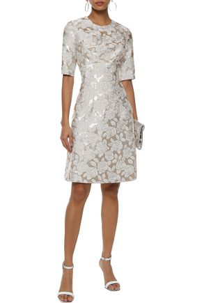 LELA ROSE Holly brocade dress