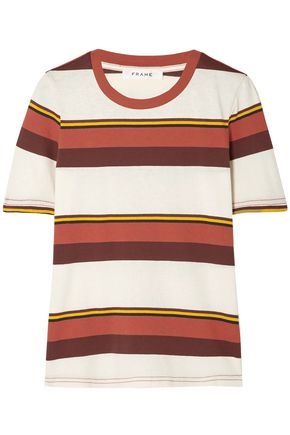 FRAME True Crew striped cotton-jersey T-shirt