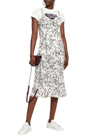 4c296d3fbd71a Astrid floral-print satin midi slip dress | RAG & BONE | Sale up to ...