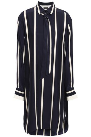 RAG & BONE Pussy-bow striped silk shirt dress