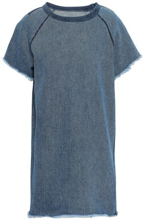 RAG & BONE Frayed denim mini dress