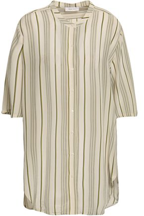 ANINE BING Striped silk crepe de chine shirt