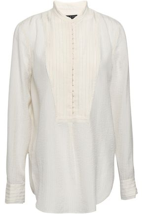 RAG & BONE Striped silk-blend blouse