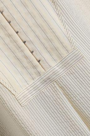 RAG & BONE Striped silk-blend shirt dress