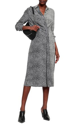 a15002b76e2d Karen leopard-print silk midi shirt dress | RAG & BONE | Sale up to ...