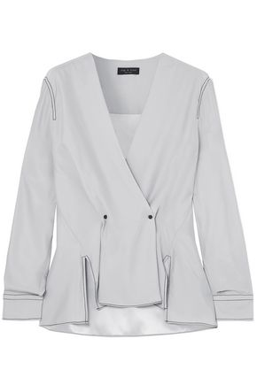 RAG & BONE Hannah wrap-effect silk-crepe blouse