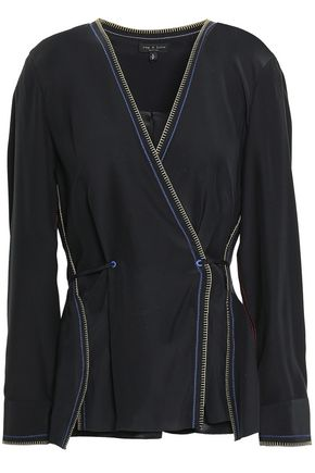 RAG & BONE Lina wrap-effect silk blouse