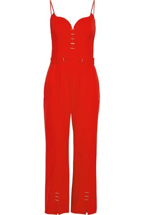 MUGLER Embellished cady jumpsuit