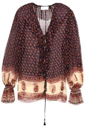 ZIMMERMANN Printed silk-georgette blouse