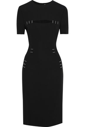 MUGLER Cutout embellished cady dress